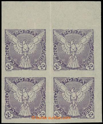223249 - 1918 Pof.NV5N, nevydaná, Sokol v letu 20h fialová, pravý