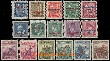 223256 - 1939 Sy.2-18, krátká série 5h - 3Kčs, 16ks přetiskovýc