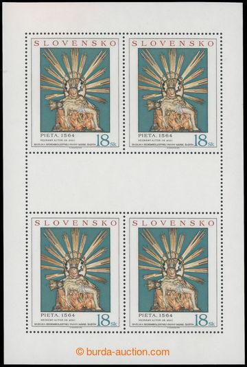 223264 - 1998 Zber.161 PLb, Umění Pieta 18Sk, celý tiskový list s