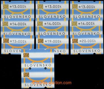 223265 - 2001 Zber.AT1, sada 11ks automatových zn. I. a II. typy + s