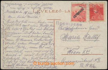 223283 - 1919 Pohlednice (Mukačevo) se smíšenou maďarskou frankat
