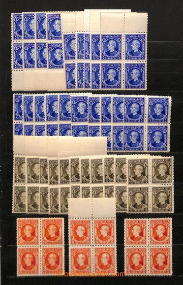 223321 - 1939-1944 [SBÍRKY]  ČTYŘBLOKY /  obchodní zásoba 4-blok