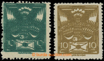 223326 -  Pof.145A VV, 146A VV, 10h tmavě zelená a 10h olivová, HZ