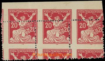 223341 -  Pof.151 VV, 20h červená, vodorovná 3-páska s VV - výra
