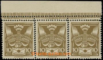 223342 -  Pof.146 VV, 10h olivová, vodorovná krajová 3-páska s VV