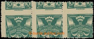 223347 -  Pof.145A VV, 10h tmavě zelená, vodorovná 3-páska s VV -