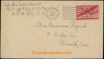 223367 - 1945 APO 94, let.-dopis zaslaný do USA přes U.S. polní po
