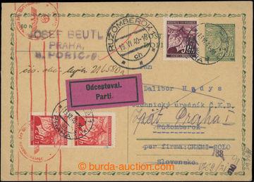 223372 - 1940 CDV1 adresovaná na Slovensko, dofr. 20+20+30h Lipové