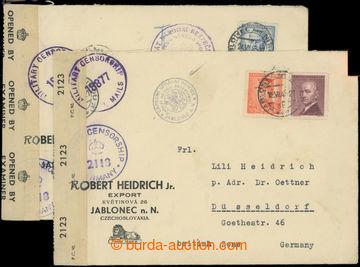 223384 - 1947 CENZURA / dva firemní dopisy zaslané do Německa, 1x