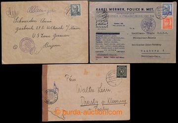 223388 - 1947-1948 CENZURA / sestava 3ks dopisů, z toho 2ks zaslané