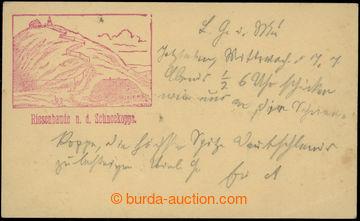 223394 - 1886 KRKONOŠE - Obří bouda (Riesenbaude), předchůdce (V
