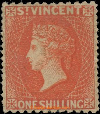 223402 - 1875-1878 SG.24, Viktorie 1Sh vermilion, perforace 11:15; ve