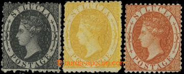 223413 - 1864 SG.11x, 12x, 14x; Viktorie 1P černá, 4P žlutá a 1Sh
