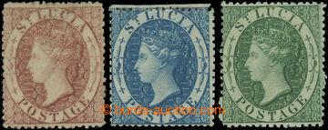 223416 - 1860 SG.1-3, Viktorie 1P-6P s průsvitkou hvězda; bezvadná