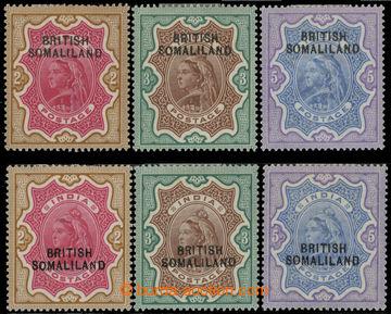 223435 - 1903 SG.11-13, 22-24, indické Viktorie 2Rs-5Rs, koncové ho