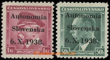 223442 - 1938 neúřední přetisk Autonomia/ Slovenska/ 6.X.1938, p�