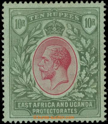 223446 - 1912-1921 SG.58, Jiří V. 10R červená / zelená, mimořá