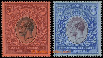 223447 - 1912-1921 SG.59, 60, 2x Jiří V. 20R, černá / červená a