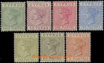223450 - 1882 SG.16-22, Viktorie 1/2Pia - 12Pia, průsvitka CA, 4Pia
