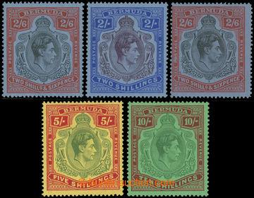 223453 - 1938-1953 SG.116, 117, 117a, 118, 119, Jiří VI. 2Sh - 10Sh