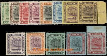 223462 - 1908 SG.34-47, Brunei River 1C-$5, kompletní série ve změ