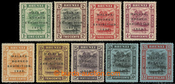 223463 - 1922 SG.51-59, Brunei River 1C - $1; kompletní série s př
