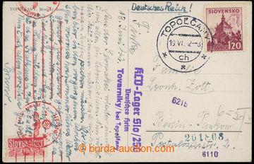 223466 - 1942 KINDERLANDVERSCHICKUNG TOVARNIKY/ KLV-Lager Slo 250/ De