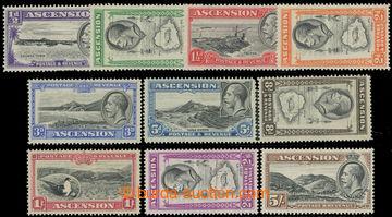 223469 - 1934 SG.21-30, Jiří V. - Krajinky ½P - 5Sh; bezvadná a k