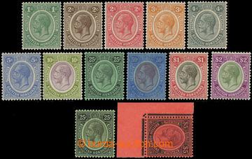 223473 - 1922-1933 SG.124-137, Jiří V. 1C-$5; bezvadná série, $5