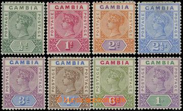 223482 - 1898-1902 SG.37-44, Viktorie 1/2P-1Sh; známka 2½P dv, ale