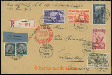 223496 - 1936 ZEPPELIN / 1. NAF, Sie 496, ZULEITUNG se smíšenou Ně