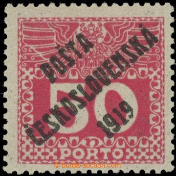 223525 -  Pof.71, Velké číslice 50h červená, II. typ; velmi pěk