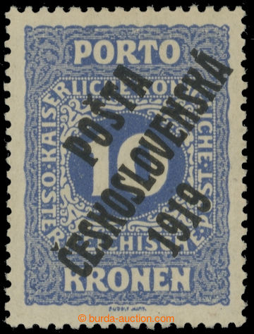 223526 -  Pof.82, Malé číslice 10K modrá, II. typ; nepatrná stop