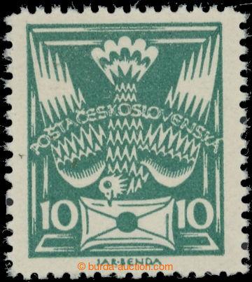 223533 -  Pof.145B, 10h tmavě zelená, vzácné ŘZ 13¾; svěží,