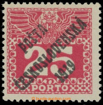 223546 -  Pof.69, Velké číslice 25h červená, I. typ; po nálepce