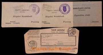 223548 - 1911-1937 BLATNÉ (SENEC) - č. 2017, 4 ks doručenek bez fr