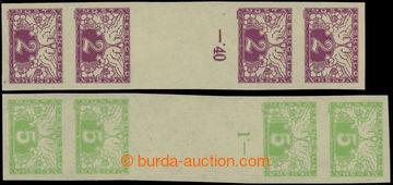 223549 - 1919 Pof.S1Ms(4), S2Ms(4), 2h fialová a 5h zelená, nepřel