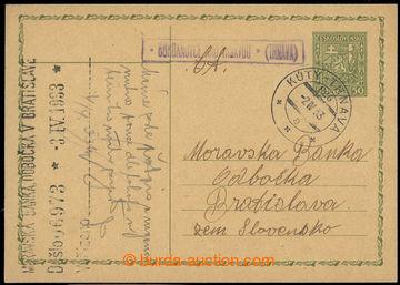 223550 - 1933 poštovna BOHDANOVCE NAD TRNAVOU (TRNAVA) - č. 2018, r