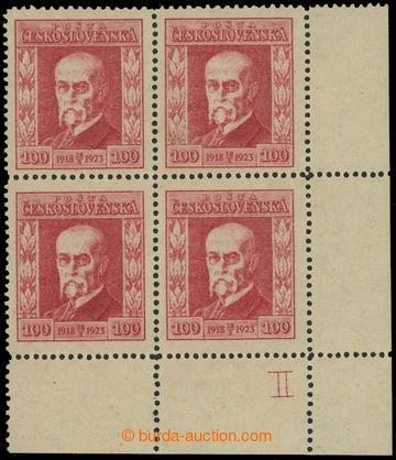 223551 - 1923 Pof.177 DČ II, Jubilejní 100h červená, pravý doln�