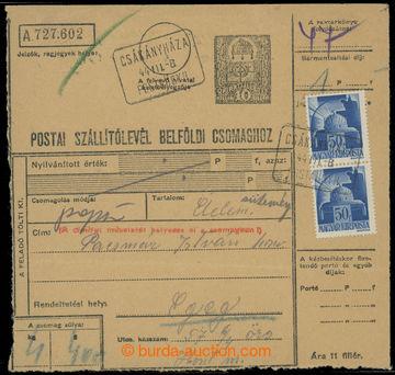 223552 - 1944 poštovna ČAKANOVCE (RADZOVCE) - č. 2031 - maďarský
