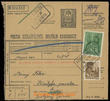 223553 - 1944 poštovna DOLNÝ VINODOL (KOMJATICE) - č. 2077 - maďa
