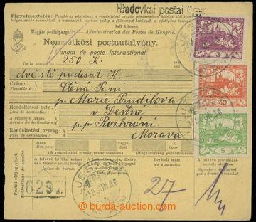 223554 - 1919 poštovna HLADOVKA (ČIMHOVÁ) - č. 2095, uherská mez
