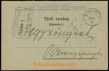 223557 - 1912 SLOVENSKÉ ÚZEMÍ /  poštovna JAHODNÁ (TOMÁŠIKOVO)