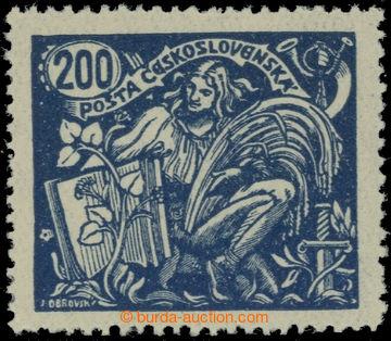 223558 -  Pof.174B, 200h modrá, III. typ, HZ 13¾ : 13½; svěží,