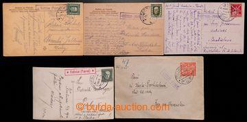 223561 - 1922-1933 KVĚTNICE (POPRAD) - č. 2183, sestava 5 ks, raz.