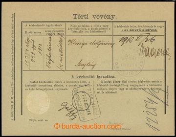 223567 - 1913 SLOVENSKÉ ÚZEMÍ /  poštovna MAJCICHOV (ABRAHÁM) -