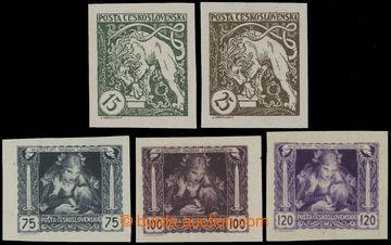 223582 - 1919 Pof.27N, 28N, 30N-32N, hodnoty 15, 25, 75-120h, sestava
