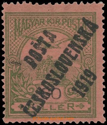 223586 -  Pof.94, 60f zelená / černá, přetisk IV. typ; nálepka,