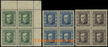 223587 - 1923 Pof.176, 178-179, Jubilejní 50h, 200h a 300h ve 4-bloc