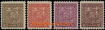 223589 - 1929 Pof.249x, 250x, 252x, 253x, Státní znak, 10h, 20h, 30